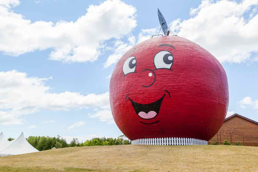 Giant Apple Statue