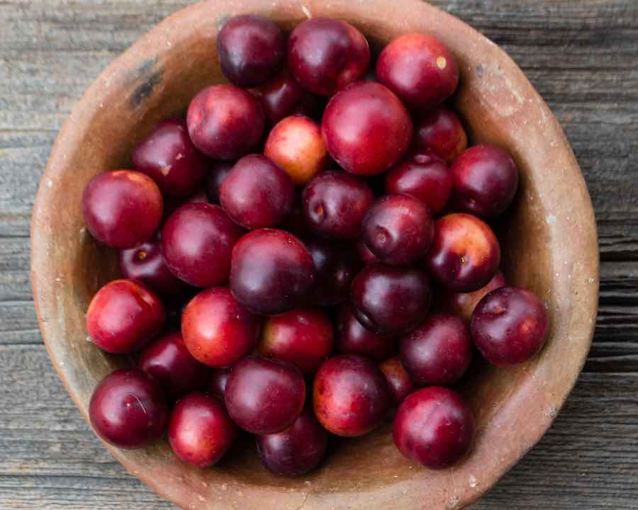 bowl of cherry plums