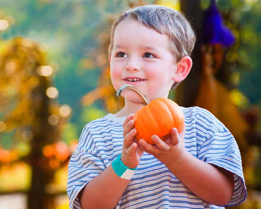 boy with jack be little pumpkin
