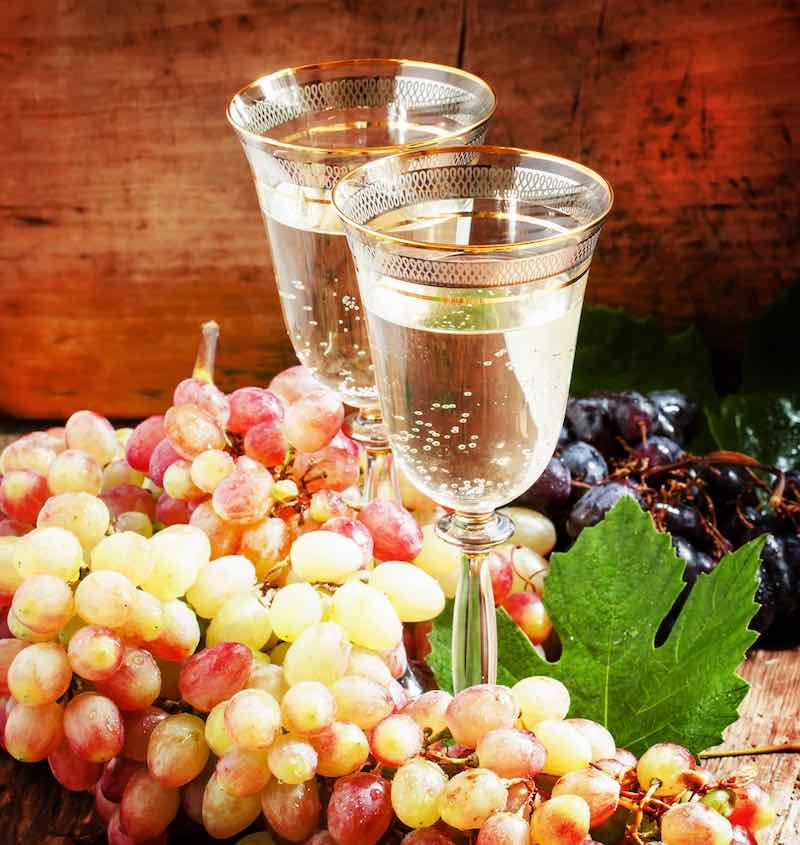 Champagne and Grapes