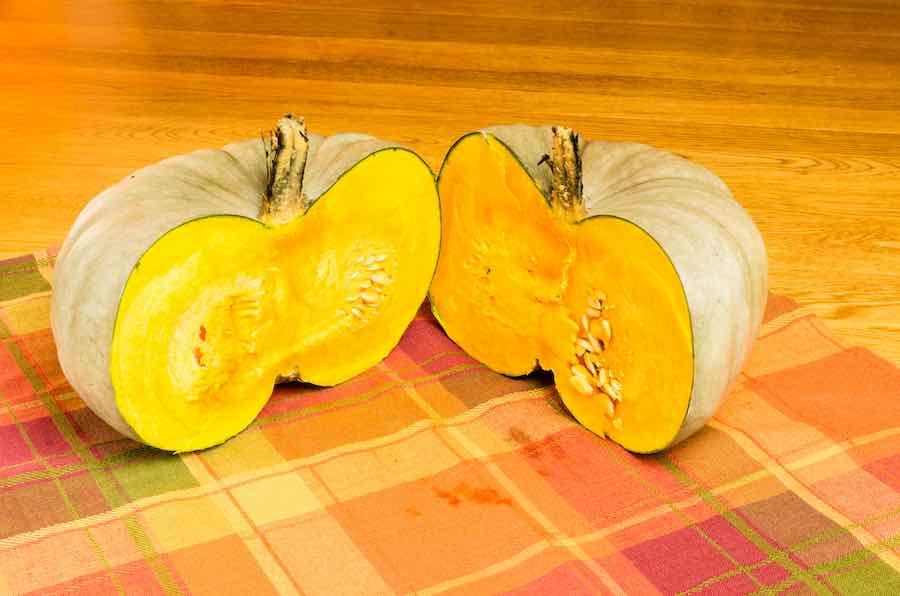 A Cut Jarrahdale Pumpkin
