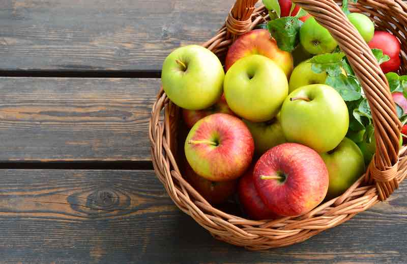 Basket of different apples
