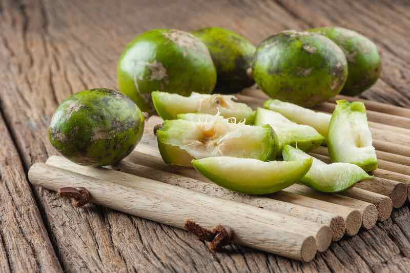 Hog plums on a table