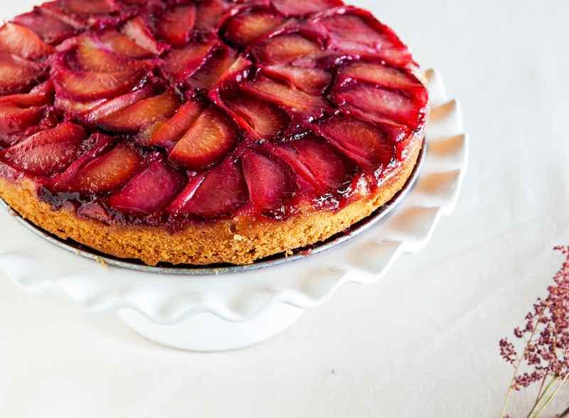 plum upside down cake