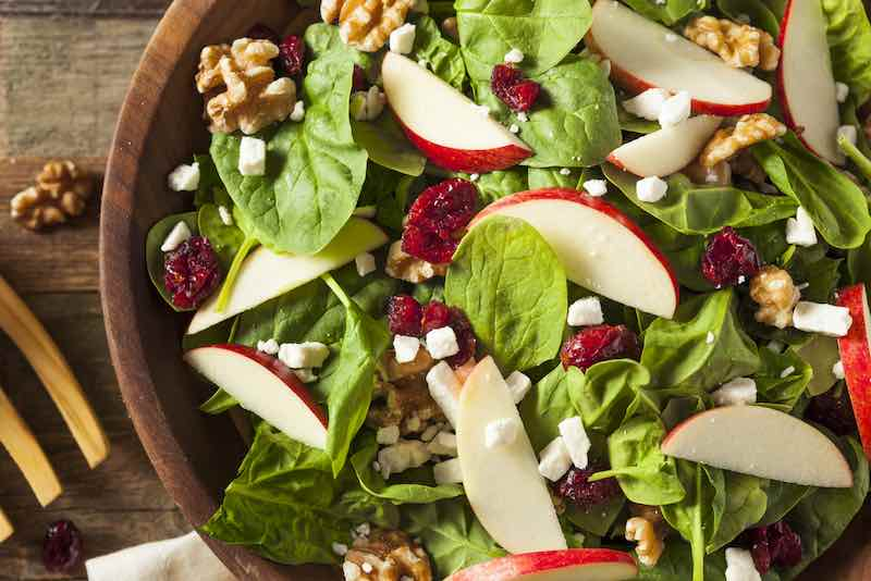 Apple Walnut Spinach Salad