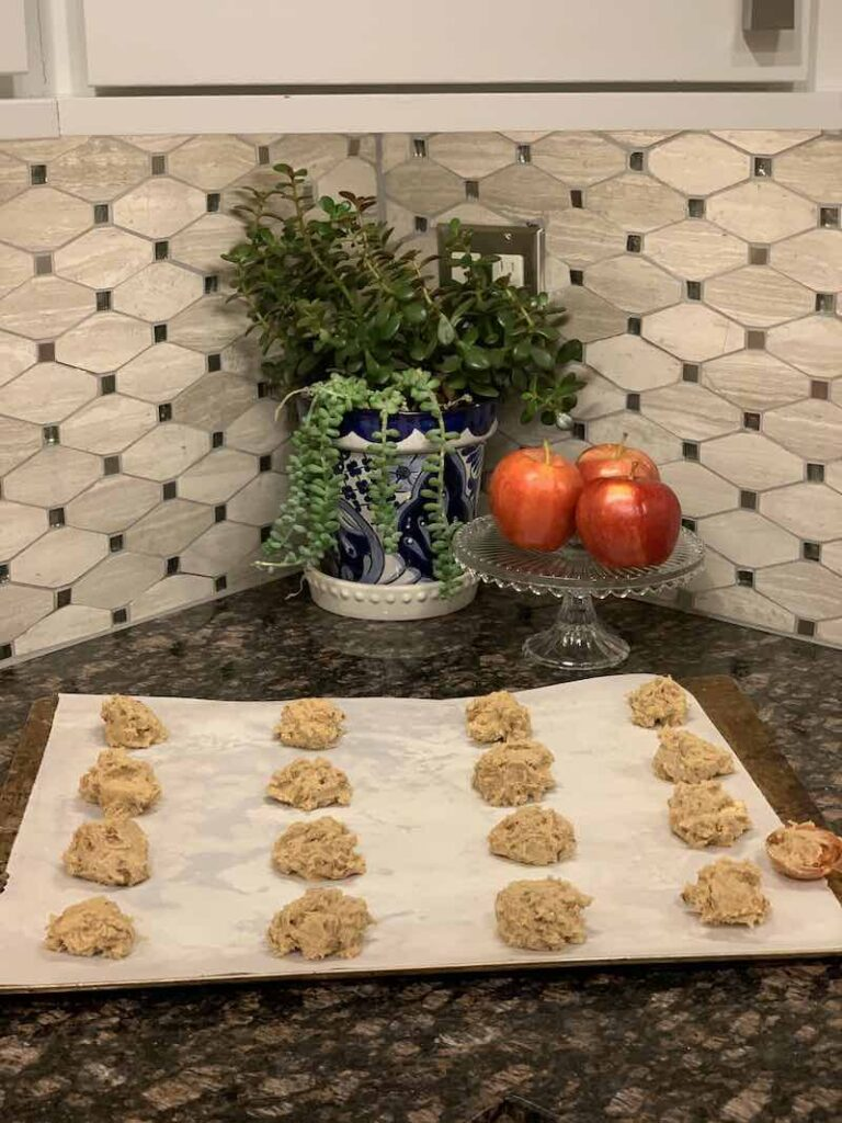 Applesauce Cookies on the Sheet