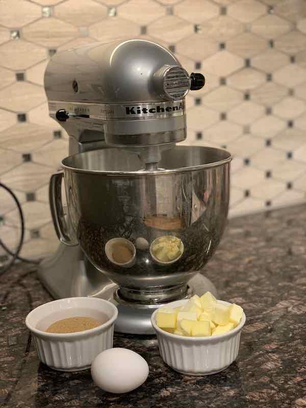 Mixing Applesauce Cookies