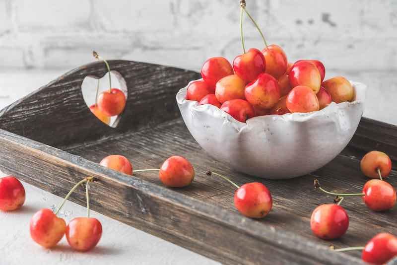 Royal Ann Cherries on a Table