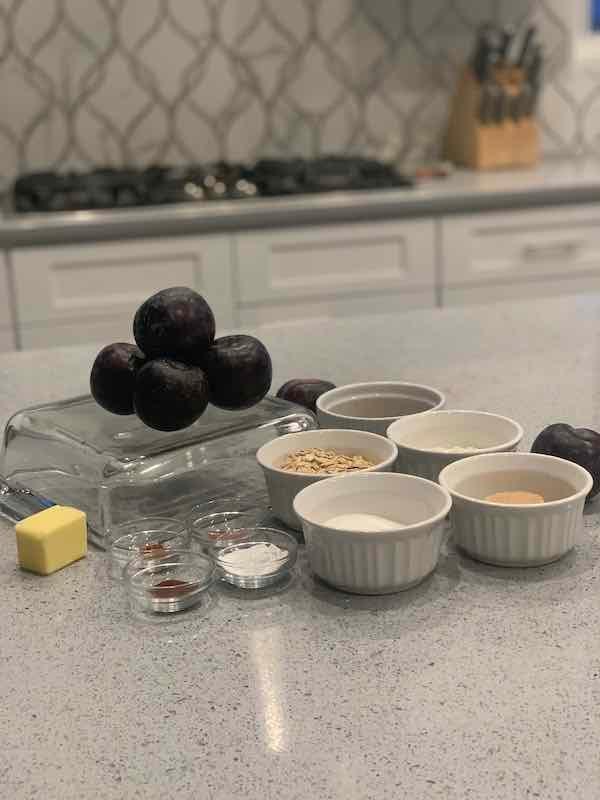 Plum Crisp Ingredients