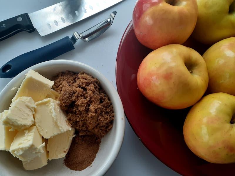 Apple butter ingredients.