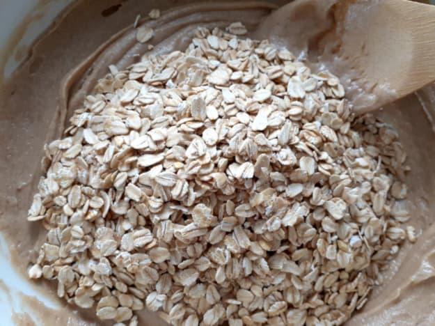 Add oats.