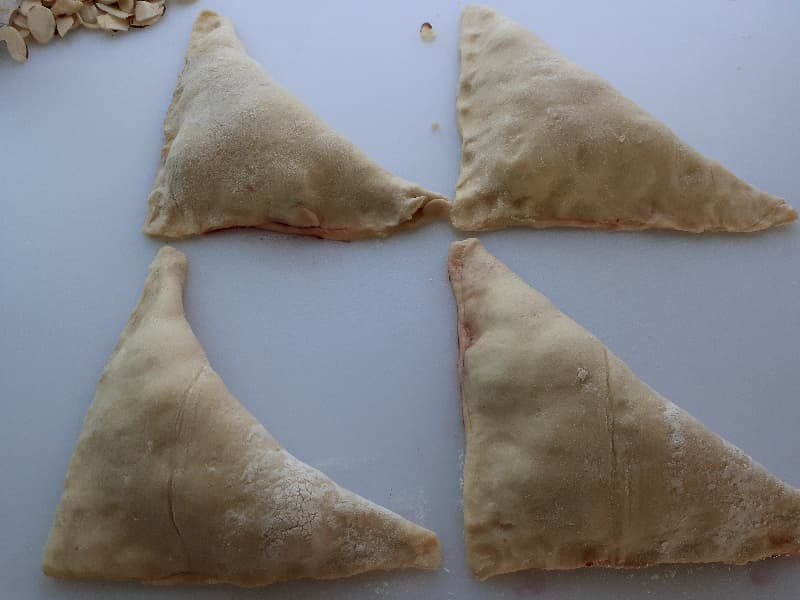 Cherry turnover triangles.