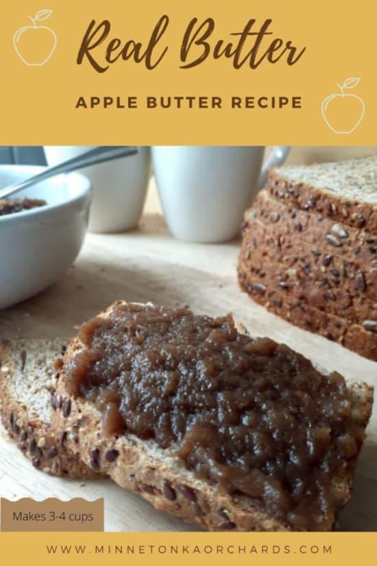 Apple butter Pinterest image.