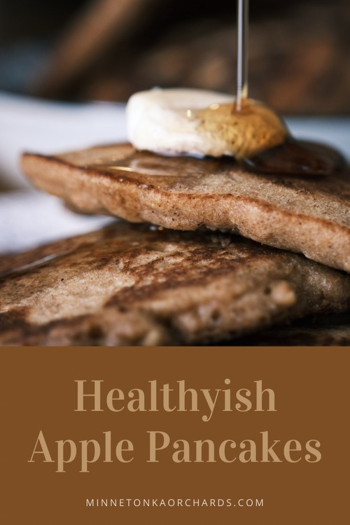 Healthyish Apple Pancakes