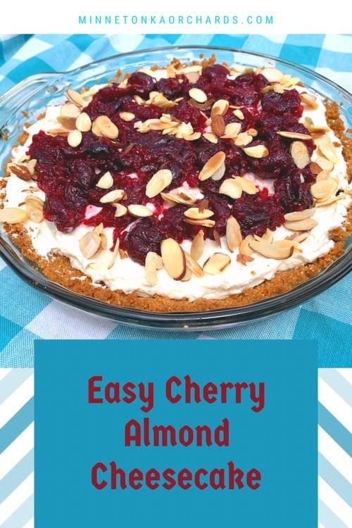 Easy Cherry Almond Cheesecake