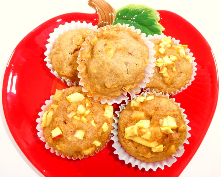 Finished Healthy Apple Muffins