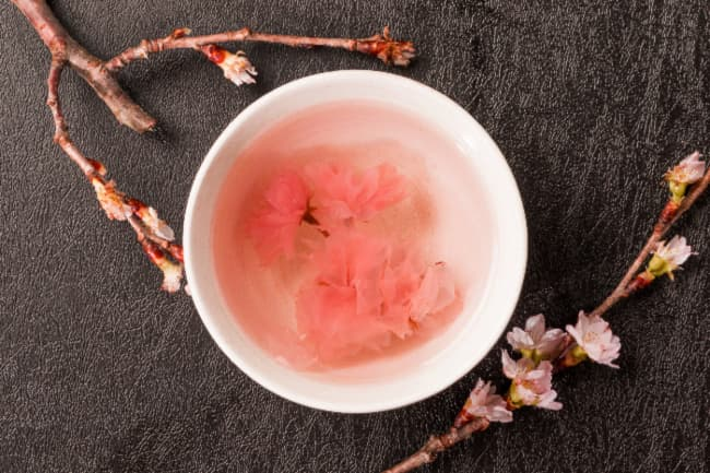Japanese cherry blossom tea.