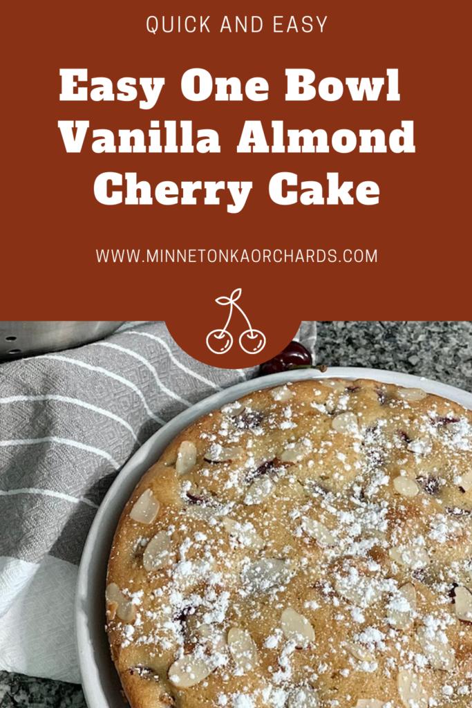 Vanilla Almond Cherry Cake Pinterest Image