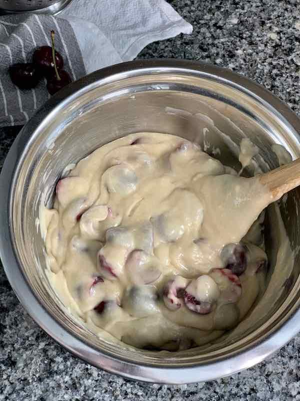 mixing in cherries