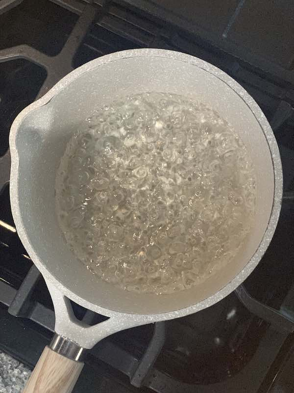 Simple Syrup At A Roiling Boil