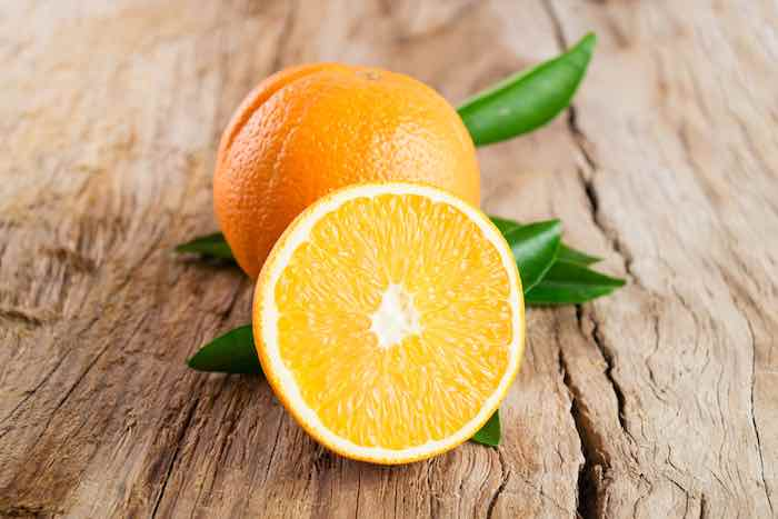 Navel Orange on a Table