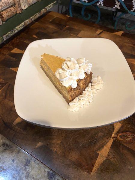 keto whipped cream on pumpkin pie.