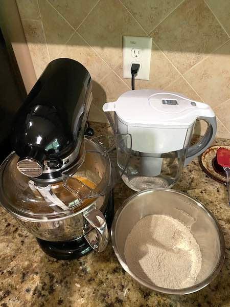 Mixing the Pumpkin Bread Batter