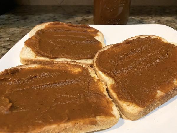 Pumpkin butter on toast.