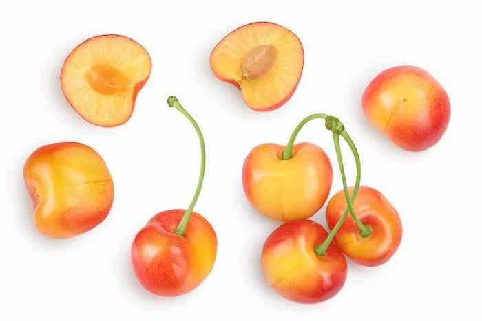 Whitegold Cherries from a Whitegold Cherry Tree