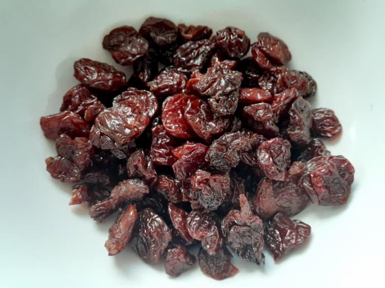 Dried cherries.