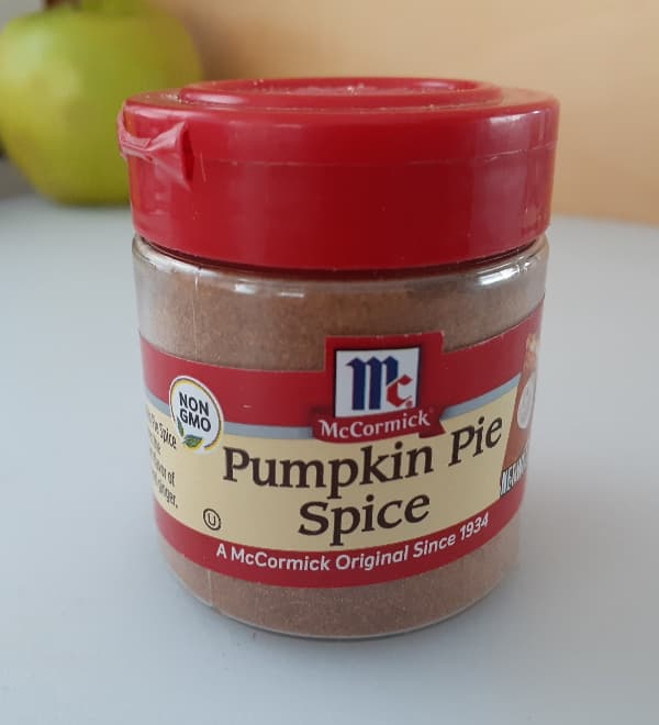 Jar of McCormick Pumpkin Pie Spice.