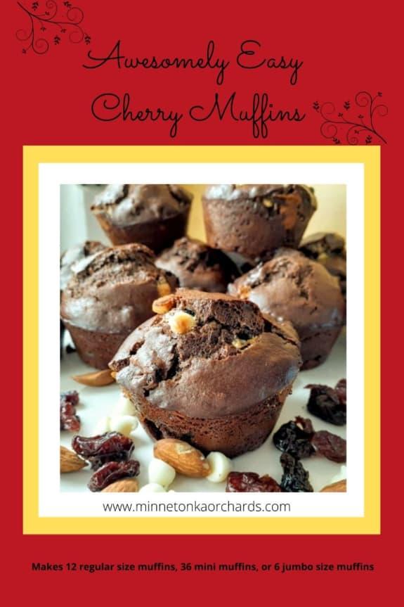 Cherry Muffin Pinterest Image.
