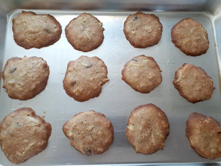 The second batch of baked apple cider cookies -- none of the cookies ran together.