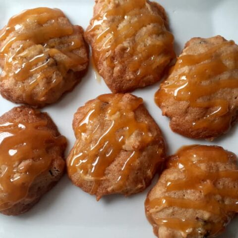 Apple Cider Cookies with butterscotch drizzle.