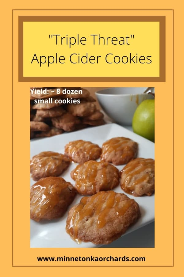 Pinterest Image for Triple Threat Apple Cider Cookies