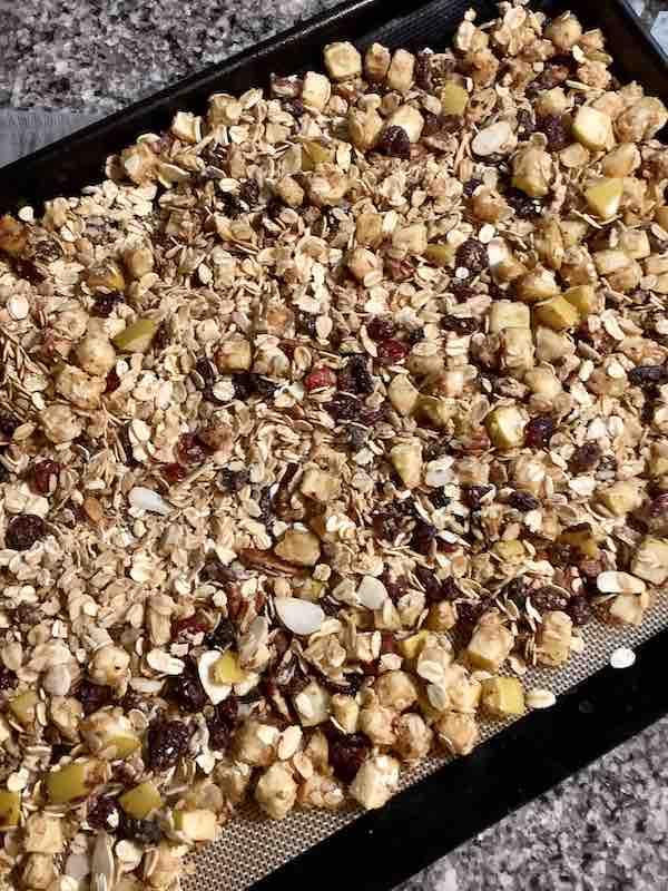 Toasted Apple Granola on a Sheet Pan