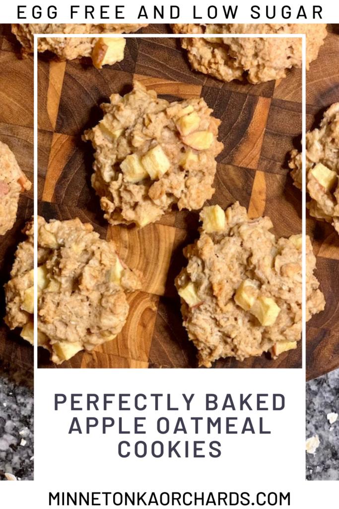 Apple Oatmeal Cookies Pinterest Pin