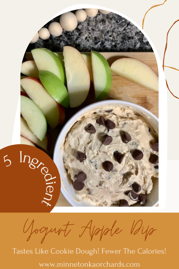Yogurt and Peanut Butter Apple Dip Pinterest Image