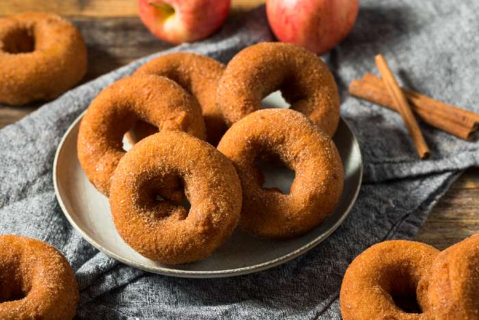 Apple cider doughuts -- one of the newer treats available at Sweetland Orchard.