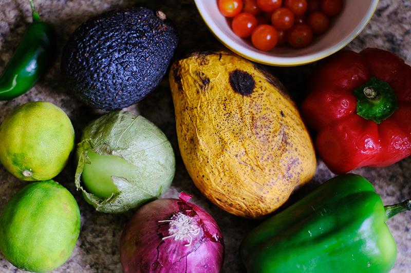 mango salsa and guacamole ingredients