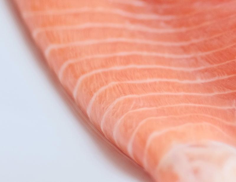 Close up a salmon fillet