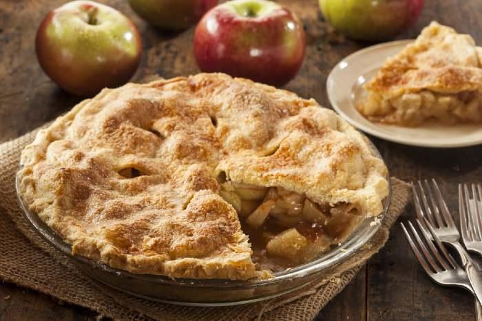 Fresh made apple fruit pie