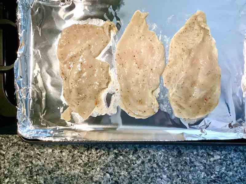 Marinated Thinly Sliced Chicken Breast
